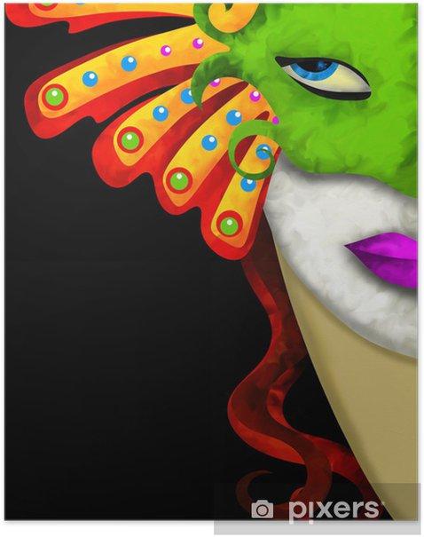 Plakat Z maską - Rozrywka
