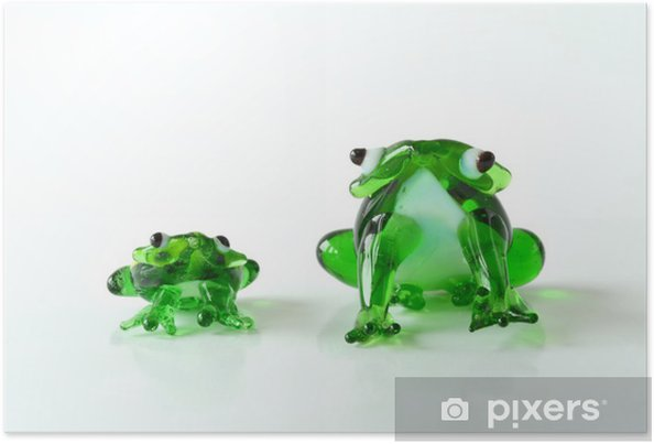 Plakat Żaba / żaby żaba / szkło / szkło rzeźby - Dom i ogród