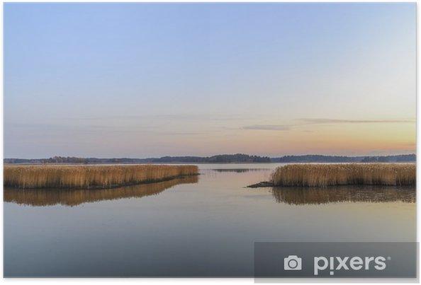 Plakat Zachód słońca i spokojne morze - Krajobrazy