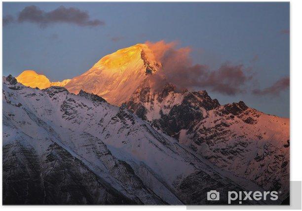 Plakat Zachód słońca na Dhauladhar - Góry