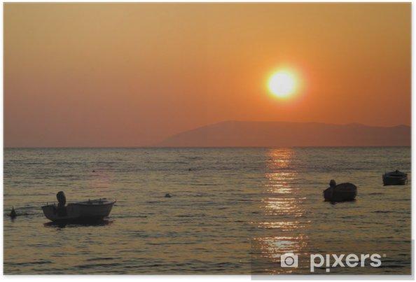 Plakat Zachód słońca nad Morze Adriatyckie - Europa