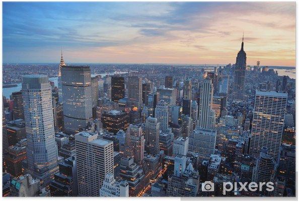 Plakat Zachód słońca w Nowym Jorku - Style