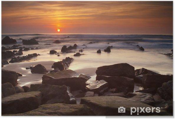 Plakat Zachód słońca - Niebo