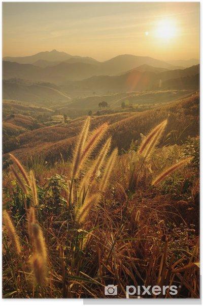 Plakat Zachody słońca nad górami. - Góry