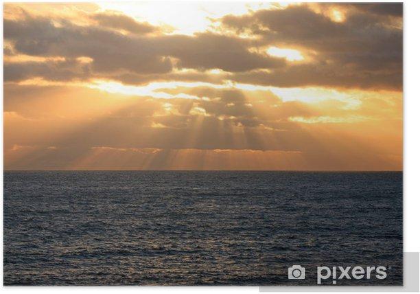 Plakat Zajdzie słońce nad oceanem Australien_07_1181 - Czas