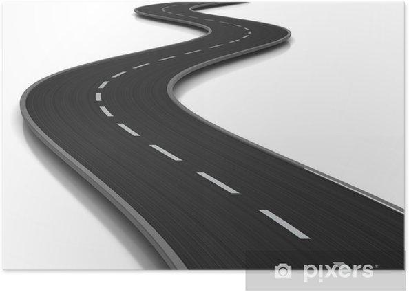 Plakát Zakřivené silnice - Infrastruktura