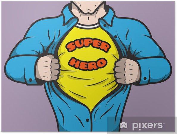 Plakat Zamaskowany superbohater komiksów - Życie