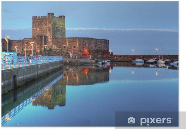 Plakat Zamek carrickfergus i port Irlandia Północna - Europa