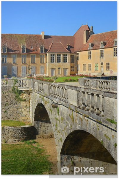 Plakat Zamek Epoisses, Burgundia, Frankreich - Europa