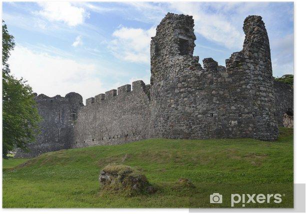 Plakat Zamek Inverlochy niedaleko Fort William w Szkocji - Europa