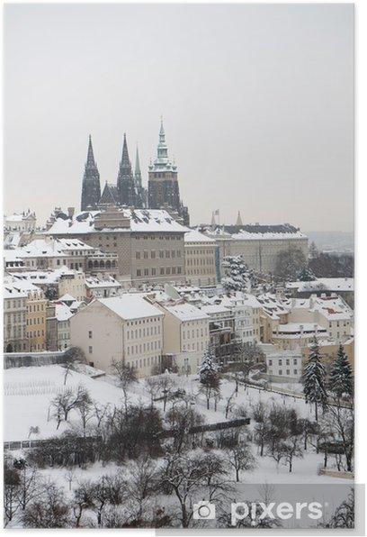 Plakat Zamek Praski w zimie - Zabytki