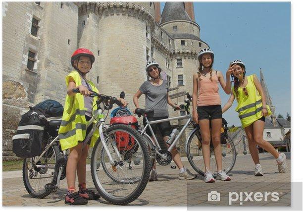 Plakat Zamki nad Loarą rowerem - Sporty indywidualne