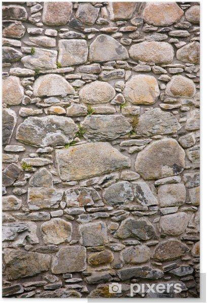 Plakat Zamkowa ściana - Zabytki
