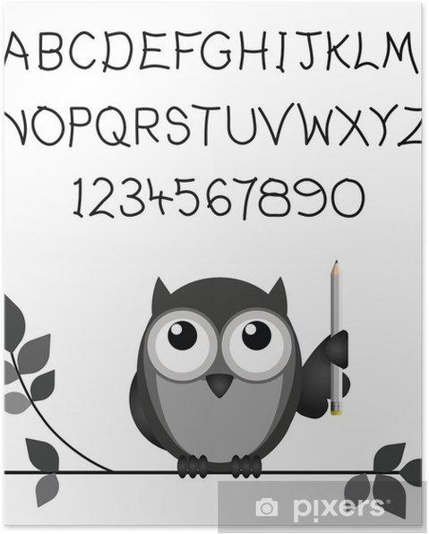 Plakat Zamówienie Odręcznie Alfabetu I Liczb