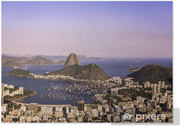 Plakát Západ slunce nad Rio de Janeiro - Americká města