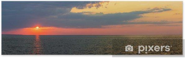 Plakát Západ slunce panorama nad Atlantským oceánem - Voda