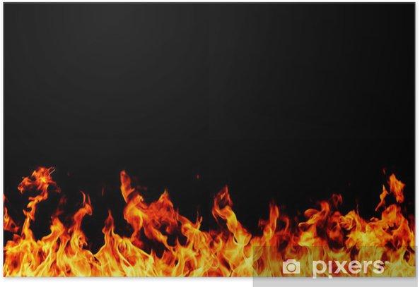 Plakat Zapalenie - Tekstury