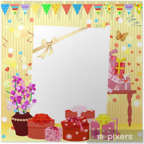 Plakat Zaproszenie Urodziny Pixers żyjemy By Zmieniać