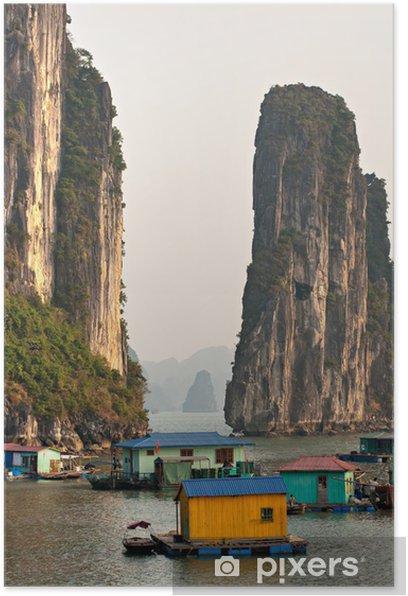 Plakat Zatoka Halong, Wietnam. Światowego dziedzictwa UNESCO. - Azja