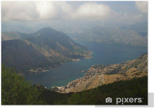 Plakat Zatoki Kotorskiej, Czarnogóra - Europa