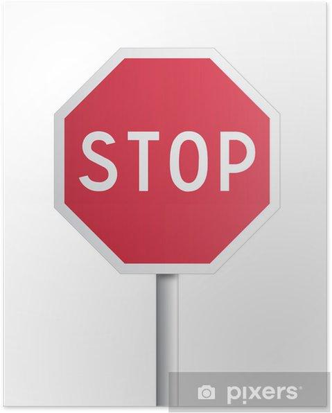 Plakat Zatrzymaj się - Znaki i symbole