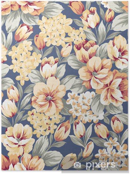 Plakat Zdjęcie Stock: kwiatów tle, element projektu wzoru - Sztuka i twórczość