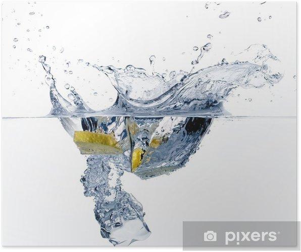 Plakat Zdrowa Woda Z Cytryną Rozpryskiwania