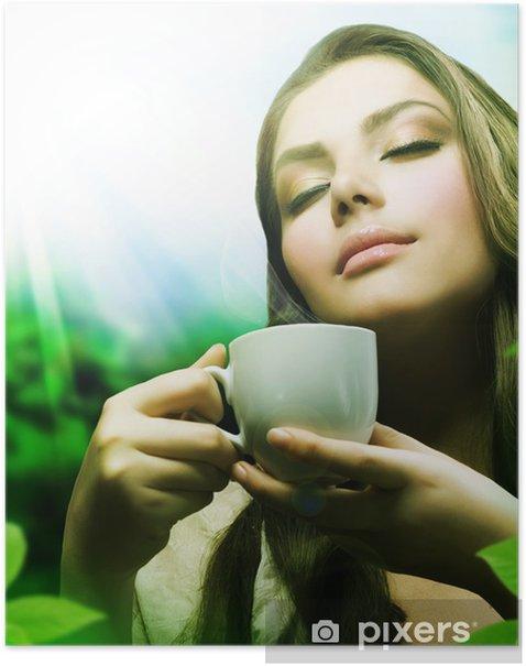 Plakat Zdrowych herbata - Gorące napoje