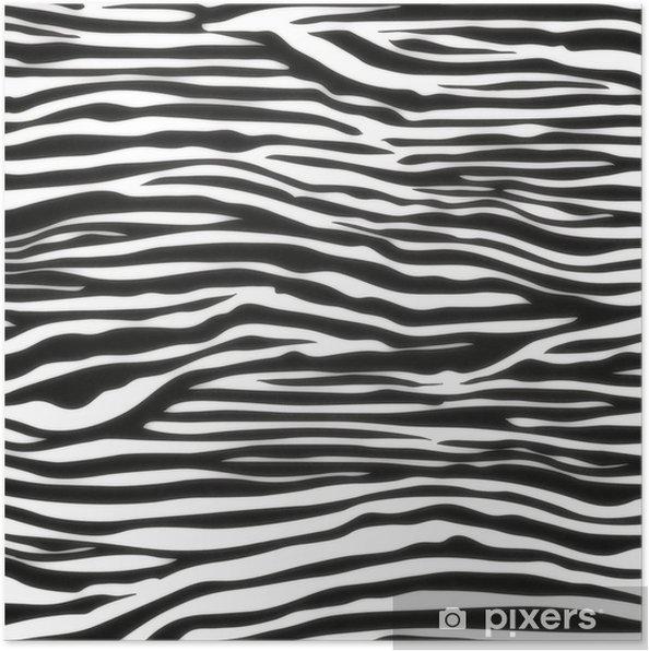 Plakát Zebra bezešvé vzor - Styly