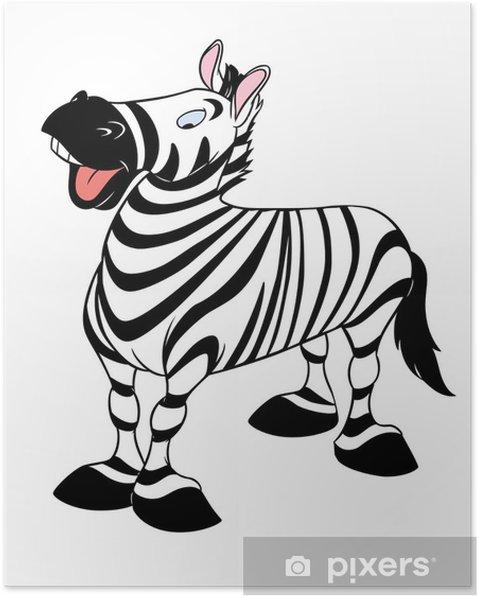Plakát Zebra - Nálepka na stěny