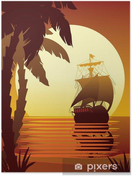 Plakat Żeglarstwo na słońce 2 - Niebo
