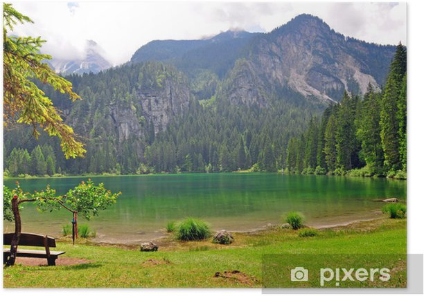 Plakát Zelená voda jezera Tavon - Evropa