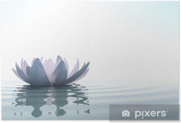 Plakat Zen Kwiat Loto W Wodzie