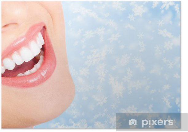 Plakát Žena v ústech - Zdraví a medicína