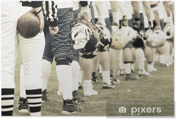 Plakat Zespół - american football concept - Football amerykański