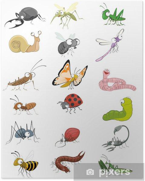 Plakat Zestaw ikon owady - Inne Inne