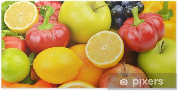 Plakat Zestaw z owoców i warzyw - Owoce