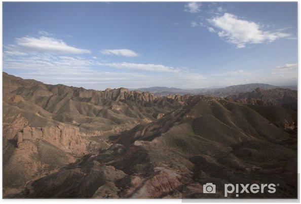 Plakat Zhangye Danxia - Góry