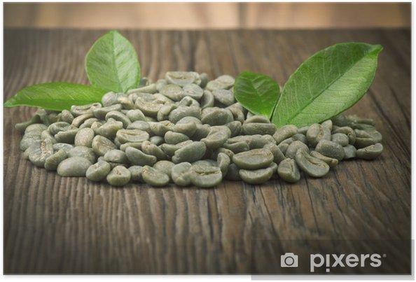 Plakát Zhubnout tím, že pije syrové zelené kávy - Horké nápoje