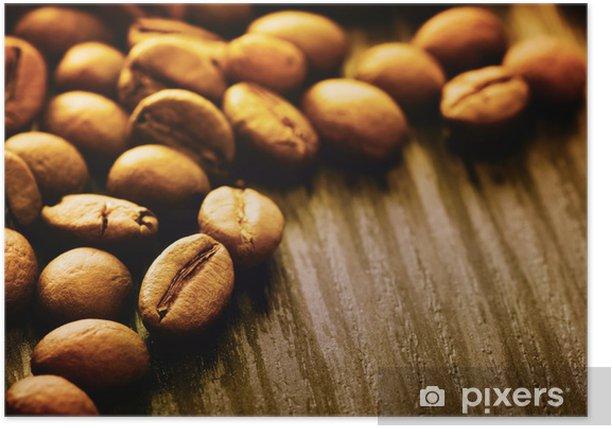 Plakat Ziarna kawy w tle - Posiłki