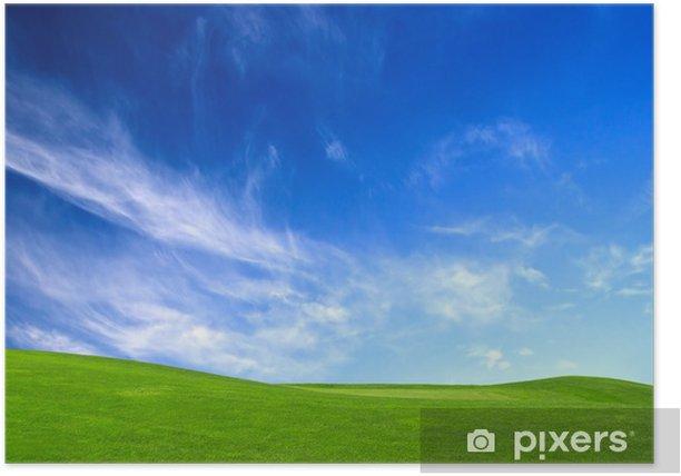 Plakat Zielona łąka - Pory roku