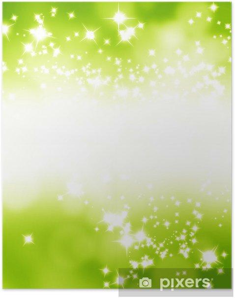 Plakat Zielone i świeże tle - Tła