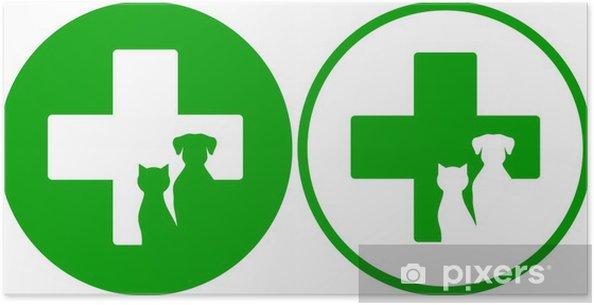 Plakat Zielone Ikony Weterynaryjne