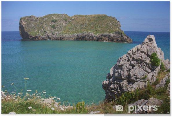 Plakat Zielone wybrzeże Asturii - Europa