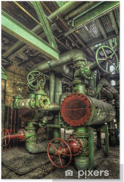 Plakat Zielony rurociągów - Budynki przemysłowe i handlowe