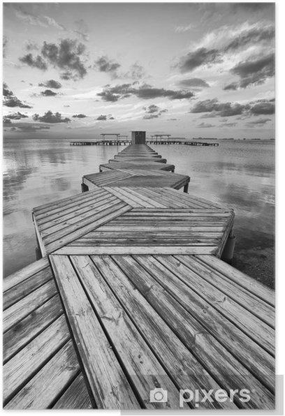 Plakat Zig Zag dock w czerni i bieli - Style