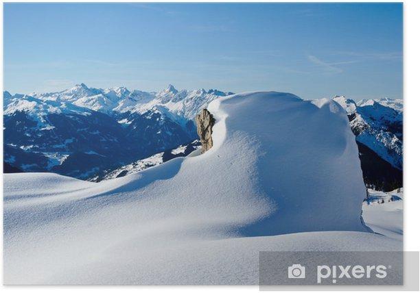Plakat Zima w Alpach - Wakacje