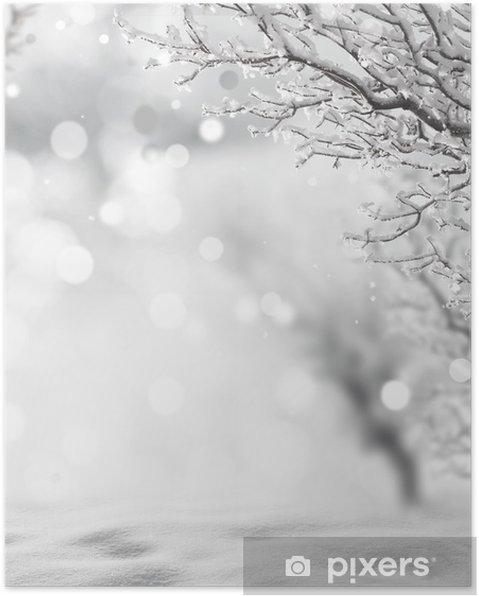 Plakat Zima w tle - Tematy