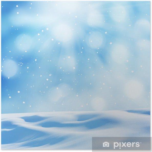 Plakát Zimní pozadí - Mezinárodní svátky