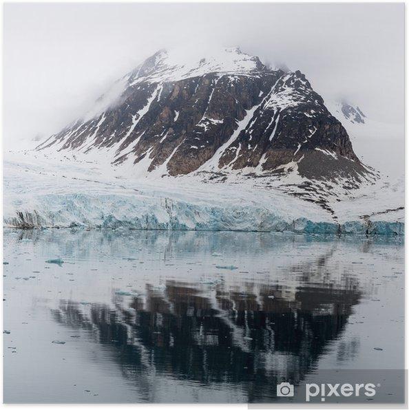 Plakat Zimowy krajobraz natury arktycznej - Krajobrazy